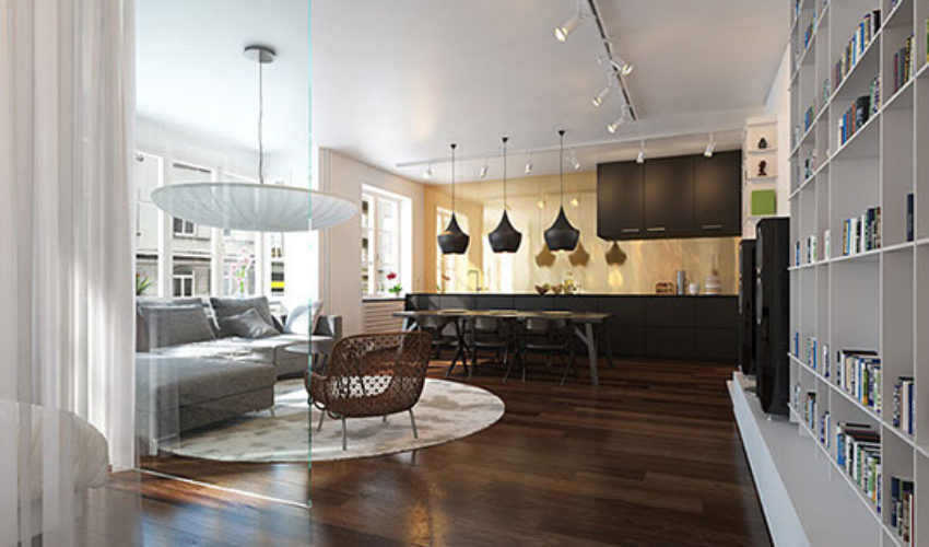 Eclectic mix in modern apartment